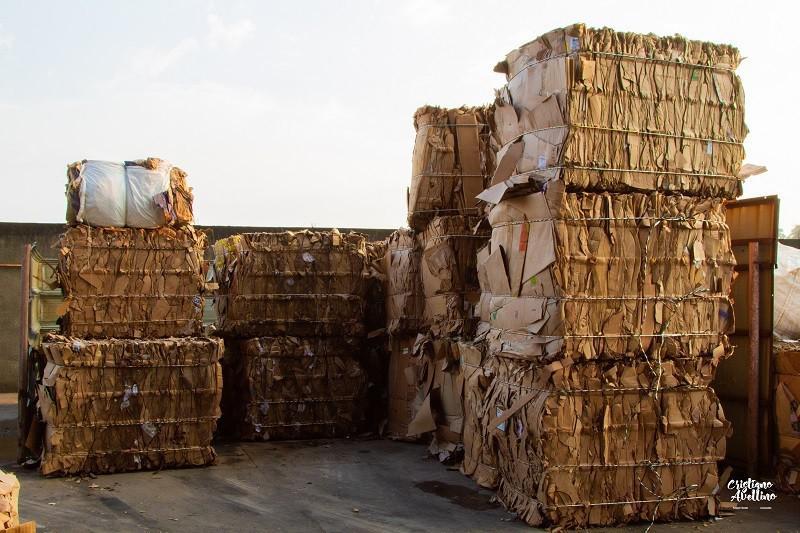 Coleta de resíduo de papel e papelão