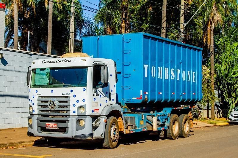 Transporte de resíduos recicláveis