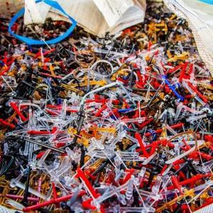 Coleta de resíduos plásticos